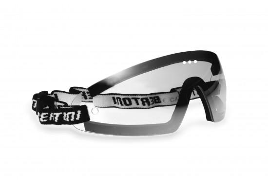 Bertoni Occhiali Sportivi da Vista Antivento Avvolgenti a Mascherina con Lenti Antifog per Moto MTB Sci Parapendio Skydive - Clip Ottica da Vista MOD. AF79A