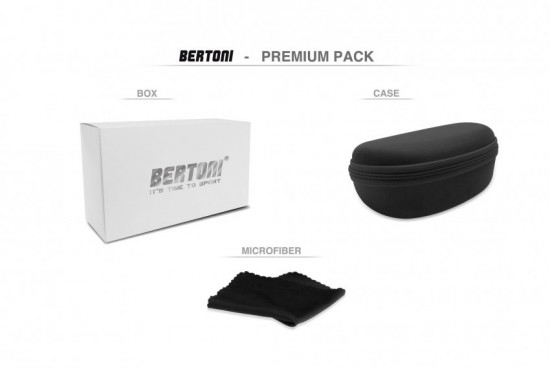 BERTONI Sport Sunglasses Photochromic Cycling MTB w. Prescription Carrier QUASAR PFT01