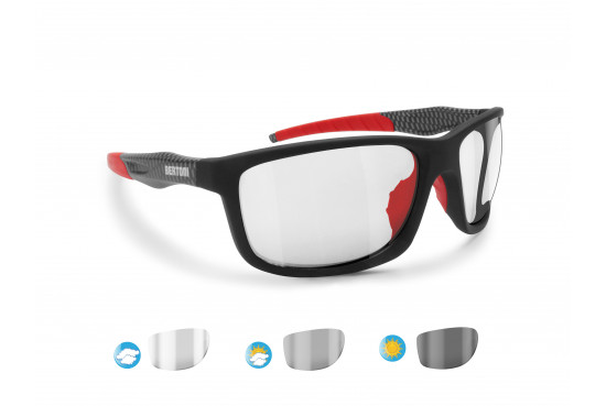 Bertoni Sports Photochromic Sunglasses for Running Ski Motorcycle Golf Cycling - Alien Italy Photochromatic