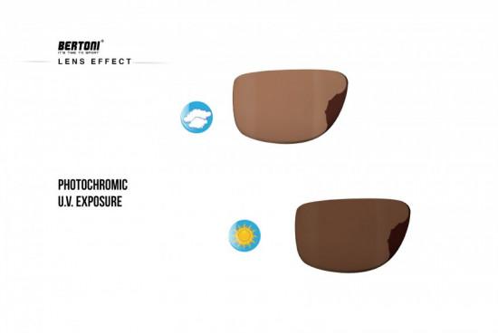 Sport Photochromic Polarized Sunglasses by Bertoni Italy - ALIEN PFT01