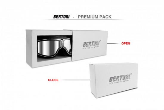 Bertoni Aviator Motorcycle Vintage Goggles Photochromic Lenses F188PH Motorbike Sunsensor Black Leather Glasses for Helmets