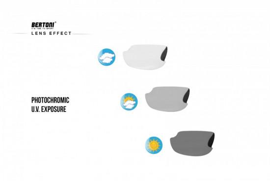F399A Occhiali Sport Vista Fotocromatici con Forma avvolgente che migliora la visione periferica. Protegge gli occhi dal vento e dalle intemperie