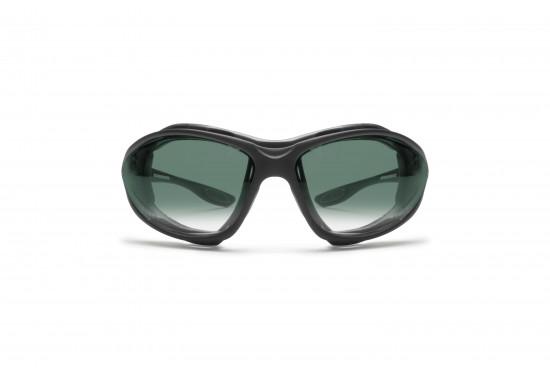 Bertoni FT333B Occhiali con Elastico con forma avvolgente che migliora la visione periferica: protegge gli occhi dal vento e dalle intemperie - Calzata adatta a tutti i tipi di viso (da sottili a grandi)