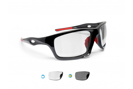 Photochromic Sport Sunglasses for Cycling Running Ski Motorcycle Cycling Fishing – mod. OMEGA BF by Bertoni Italy